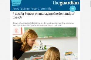 Screenshot of 7 tips for sencos on managing the demands of the job article