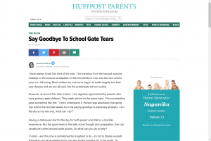 Screenshot of say goodbye to school gate tears article