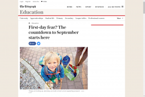 Screenshot of first day fear? the countdown to September starts here article