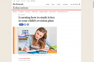 Screenshot of learning how to study is key to your child's revision plan article