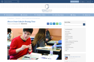 Screenshot of how to create calm for revising teens article