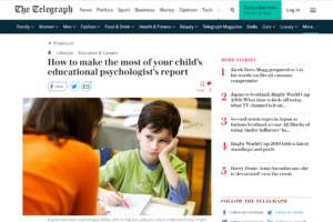 Screenshot of how to make the most of your child's educational psychologist report article