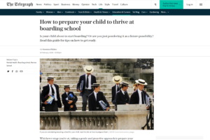 Screenshot of how to prepare your child to thrive at boarding school article