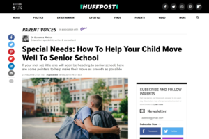 Screenshot of special needs: how to help your child move well to senior school article